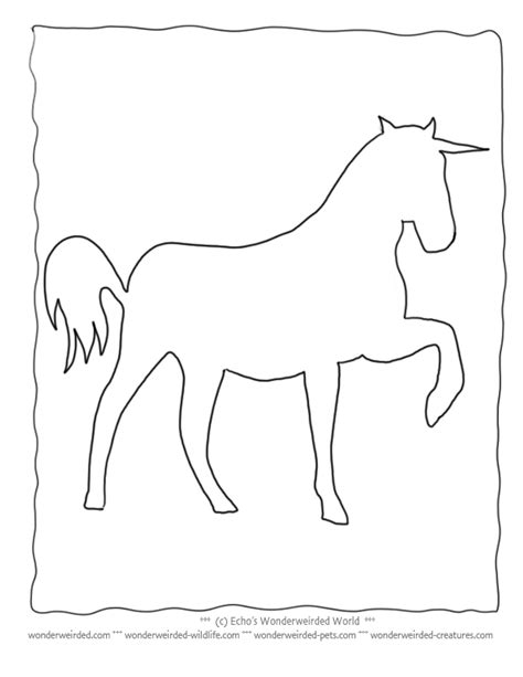 Unicorn Outline by Unicorn Coloring Pictures Book Echo S Realistic Unicorn Coloring Coloring Home