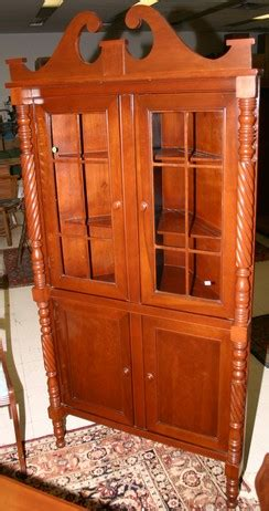 Antique Dresser Rescue And History Rushville Indiana The Vintage Storehouse Company Furniture Cabinet Corner Cherry Park Furniture Co Twist Columns 2 Glass Doors 2 Paneled Doors