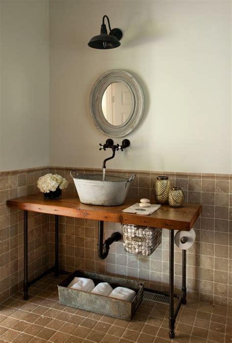 Pedestal Sink With Metal Legs 32 Trendy And Chic Industrial Bathroom Vanity Ideas Digsdigs