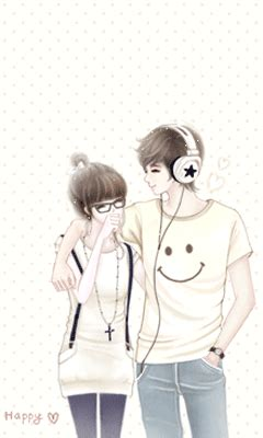 catatan silvi walpaper kartun pasangan korea lucu