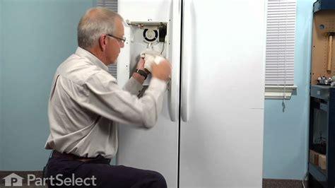 ge door refrigerator not cooling refrigerator repair replacing the recess door ge