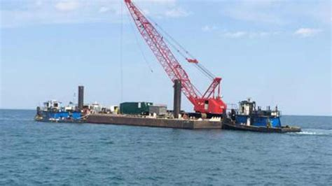 boat salvage indiana salvage complete for stuck tug boat off lake michigan