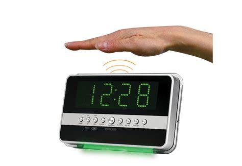 motion activated alarm clock  sharper image