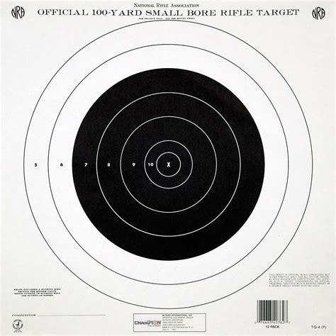 printable nra targets chion 174 official nra targets 12 pk 220729