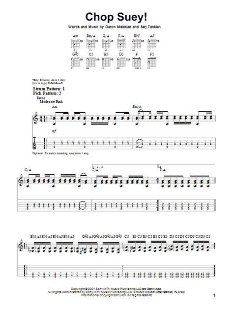 drum tutorial chop suey chop suey by system of a down easy guitar tab guitar