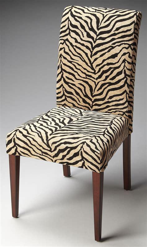 Print Parsons Chair Loft Zebra Print Fabric Parsons Chair From Butler 2956983