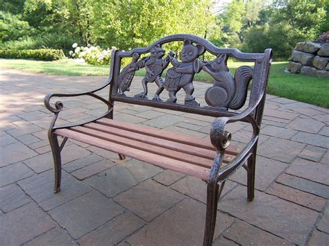 outdoor decorative bench oakland living garden decorative bench with animal band