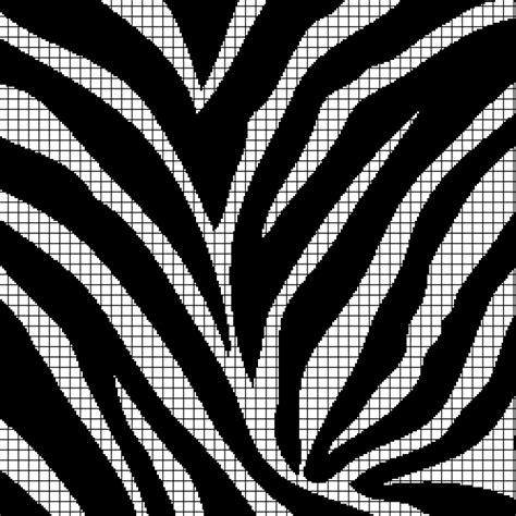 zebra graph pattern zebra print chart graph and row by row written crochet