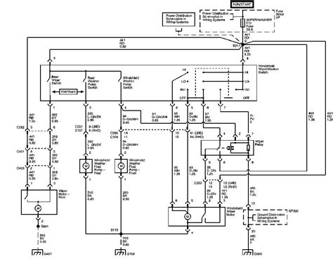 wiring diagram    aveo wiper system switch  relay  motor