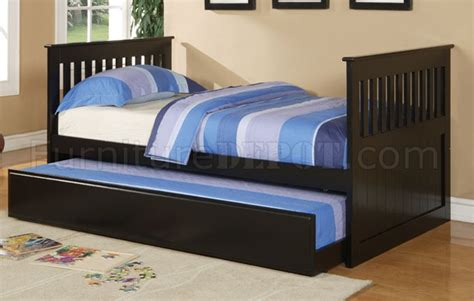 twin bed for kids contemporary black finish kids twin bed w trundle
