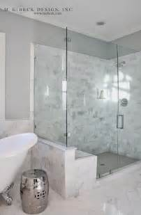 Corner Bath Shower Rail carrera marble shower tiles transitional bathroom m