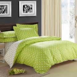 Chevron Duvet Lime Green And Beige Fashion Polka Dots Cute Style