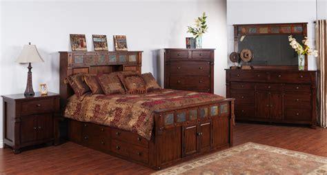 rustic bedroom suite rustic bedroom and santa fe rustic platform bedroom suite