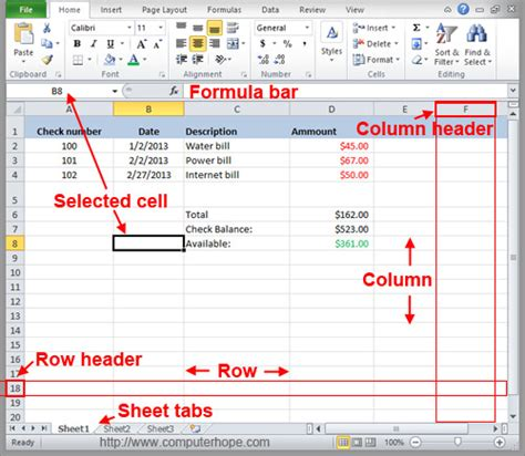 Label Excel Definition