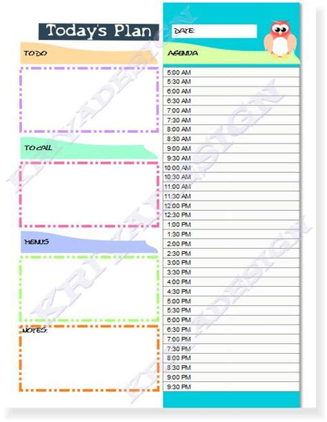 printable planner pdf day planner organizer pdf printable daily planner by