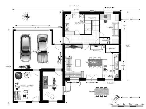 Motorradgespann Geometrie by Grundrisse Einfamilienhaus Mit Garage Die Neuesten