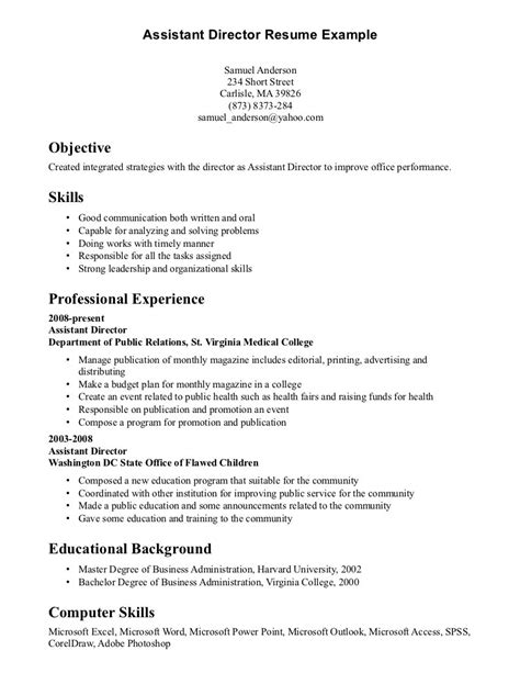 It Skills Resume by Computer Skills Resume Exle Template