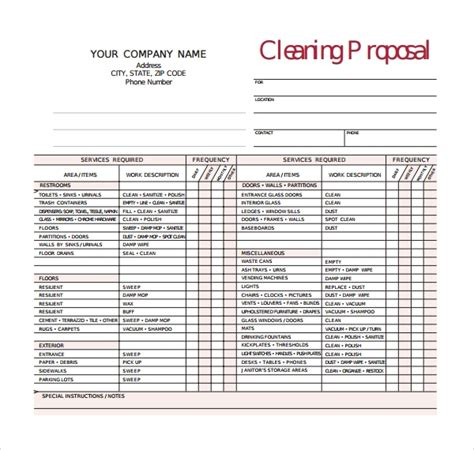home repair estimate template and house cleaning estimate forms free