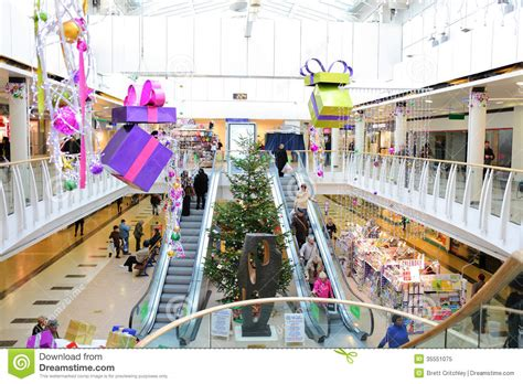 festive decoration services christmas decorations in shopping mall editorial image