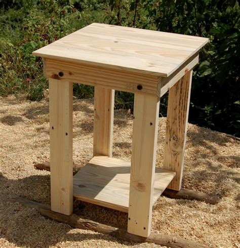 end table diy pallet side table end table nightstand pallet