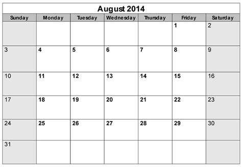 august 2012 calendar template 5 best images of printable blank calendar august 2014