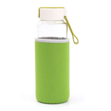 Terlaris My Bottle Infuse Water Free Bag 450ml bpa free glass sports outdoor fruit water bottle w tea filter infuser bag