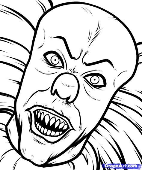 Evil Clown Coloring Pages clown coloring pages evil clown coloring pages