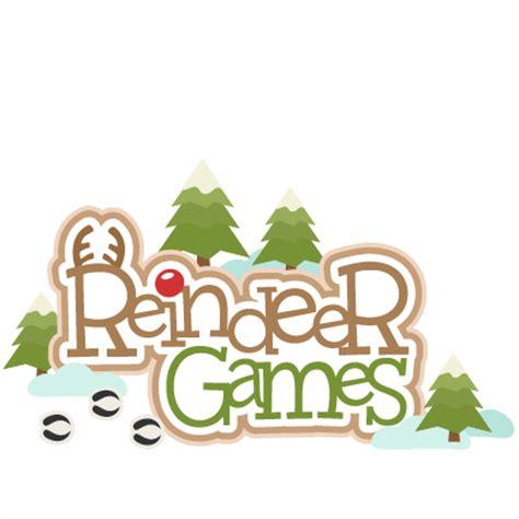 reindeer games svg scrapbook title svg cutting files for