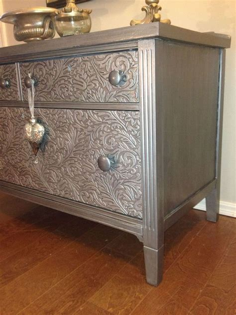 How To Paint A Finished Dresser by How To Remove Veneer And Use Wallpaper To Hide Flaws