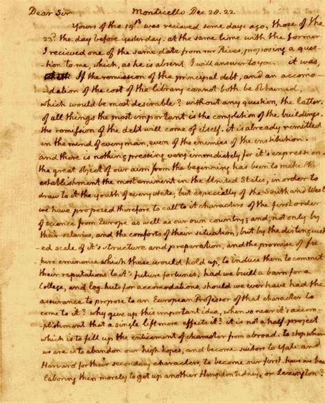 Jefferson Essay by The Jefferson Papers Albert And Shirley Small Special Collections Library