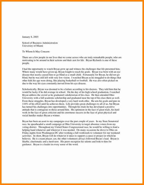 business letters to colleges exles sle recommendation letter for business school letters