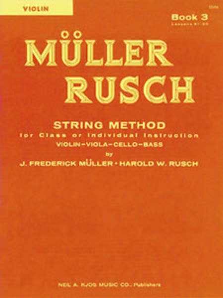 The Beautiful String Book Pdf - muller rusch string method book 3 violin sheet by