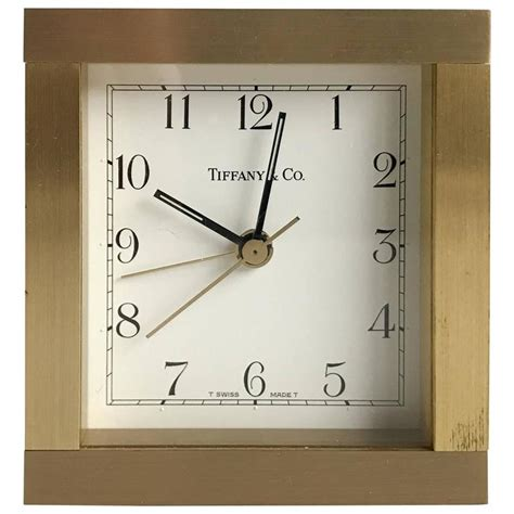 tiffany and co brass desk clock brass desk clock by tiffany and co at 1stdibs
