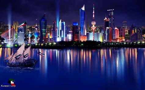 kuwait city landscape kuwait city night wallpaper 8765 wallpaper