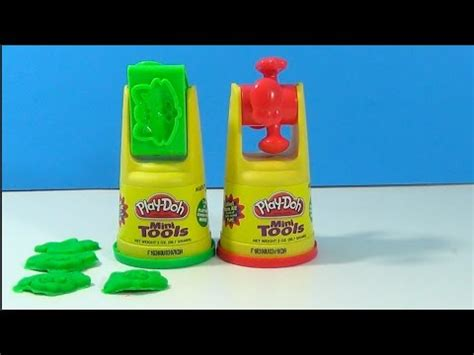 Play Doh Mini Tool Teddy unboxing playdoh mini tools cat and mouse modeling compound