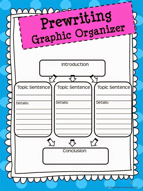 Narrative Essay Writing Graphic Organizers by Writing Mini Lesson 14 Graphic Organizers For Narrative Writing Rockin Resources