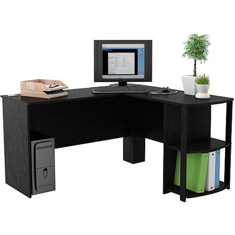 L Shaped Desk Walmart L Shaped Desk With Side Storage Finishes