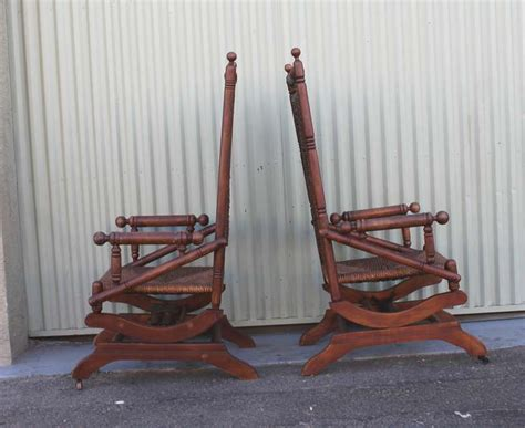 platform rocking chair value pair of rustic 19th century platform rocking chairs at 1stdibs