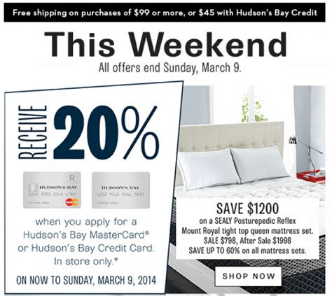 Mattress Sales This Weekend by Hudson S Bay Company Canada Sale Save Up To 60 On
