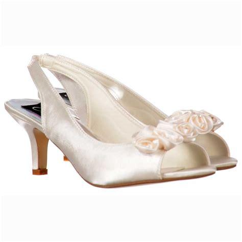 Wedding Shoes Kitten Heel With Peep Toe by Onlineshoe Low Kitten Heel Bridal Wedding Peep Toe Shoes