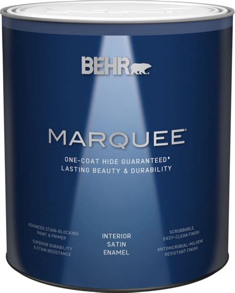 behr marquee marquee 174 939 ml base satin enamel interior paint with primer the home depot