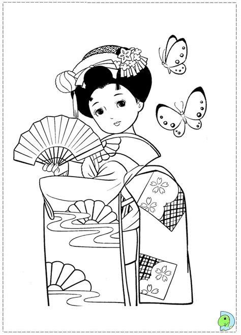 coloring pages of japanese dolls pin japanese dolls colouring pages on pinterest