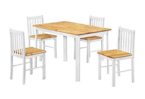Oak Dining Table And Chairs Oak Wooden Dining Table And 4 Chairs Homegenies