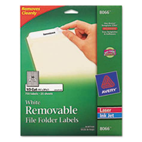 avery template 8066 ave8066 avery 174 removable inkjet laser filing labels 2 3