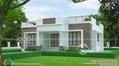 flat roof one floor 3 bedroom home 1148 sq ft kerala