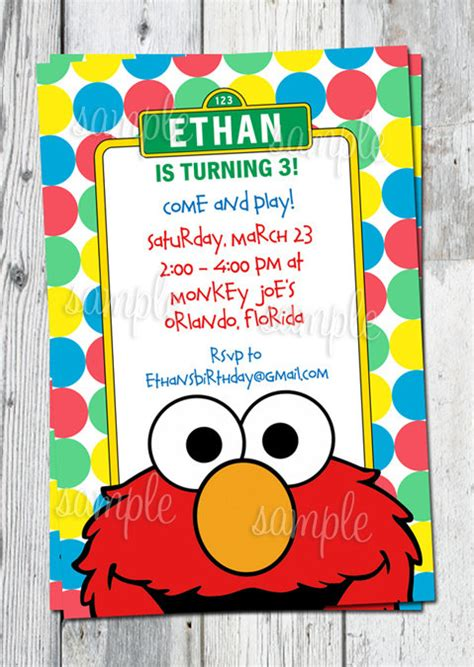 8 best images of elmo birthday invitations printable