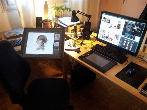 Cintiq Desk by Wacom Cintiq Setup Search Desk Setup