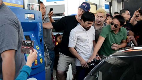 pacquiao car collection manny pacquiao swarmed at gas station youtube