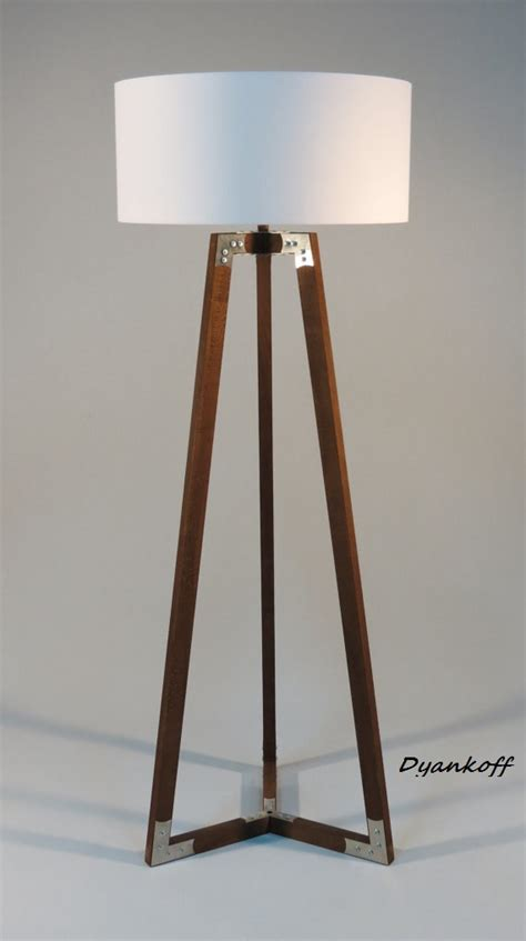 Wooden Tripod Floor L Handmade Tripod Floor L Wooden Stand In Wood Color