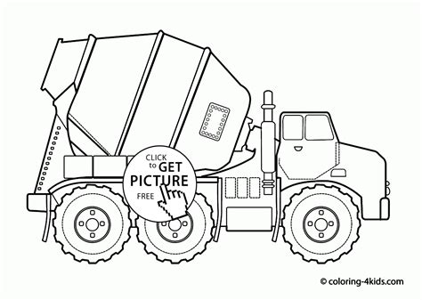 coloring pages cement truck cool cement truck coloring page for kids transportation